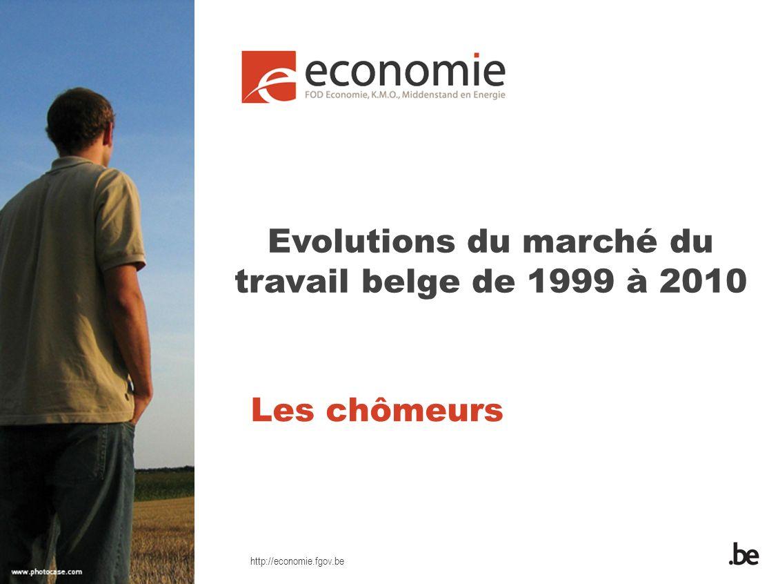 http://economie.fgov.be Les chômeurs Evolutions du marché du travail belge de 1999 à 2010