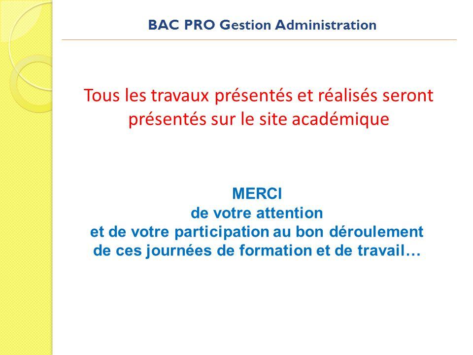 Tous les travaux présentés et réalisés seront présentés sur le site académique MERCI de votre attention et de votre participation au bon déroulement d