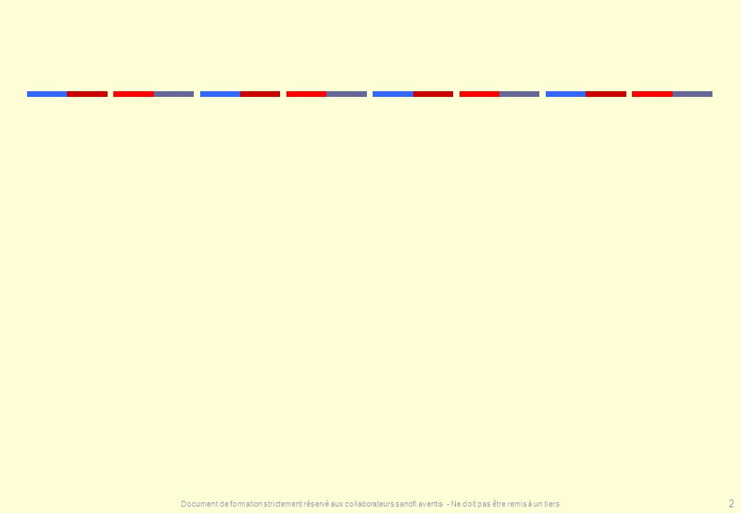 Document de formation strictement réservé aux collaborateurs sanofi aventis - Ne doit pas être remis à un tiers 73 Les autres facteurs de risque sont permanents ou occasionnels Facteurs permanents liés au patient : terrain proprement dit pathologie médicale «chronique» Facteurs occasionnels liés à une situation chirurgicale ou médicale aiguë