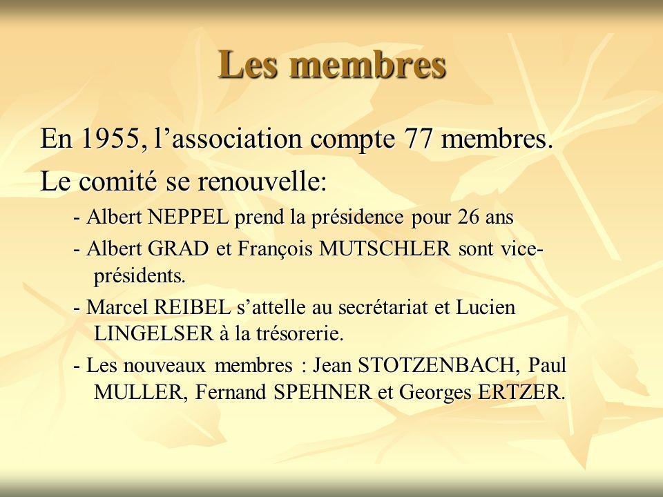 Les membres En 1955, lassociation compte 77 membres.