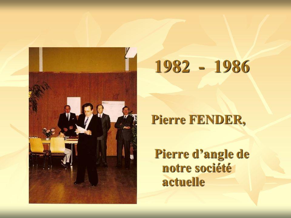 1982 - 1986 Pierre FENDER, Pierre dangle de notre société actuelle Pierre dangle de notre société actuelle