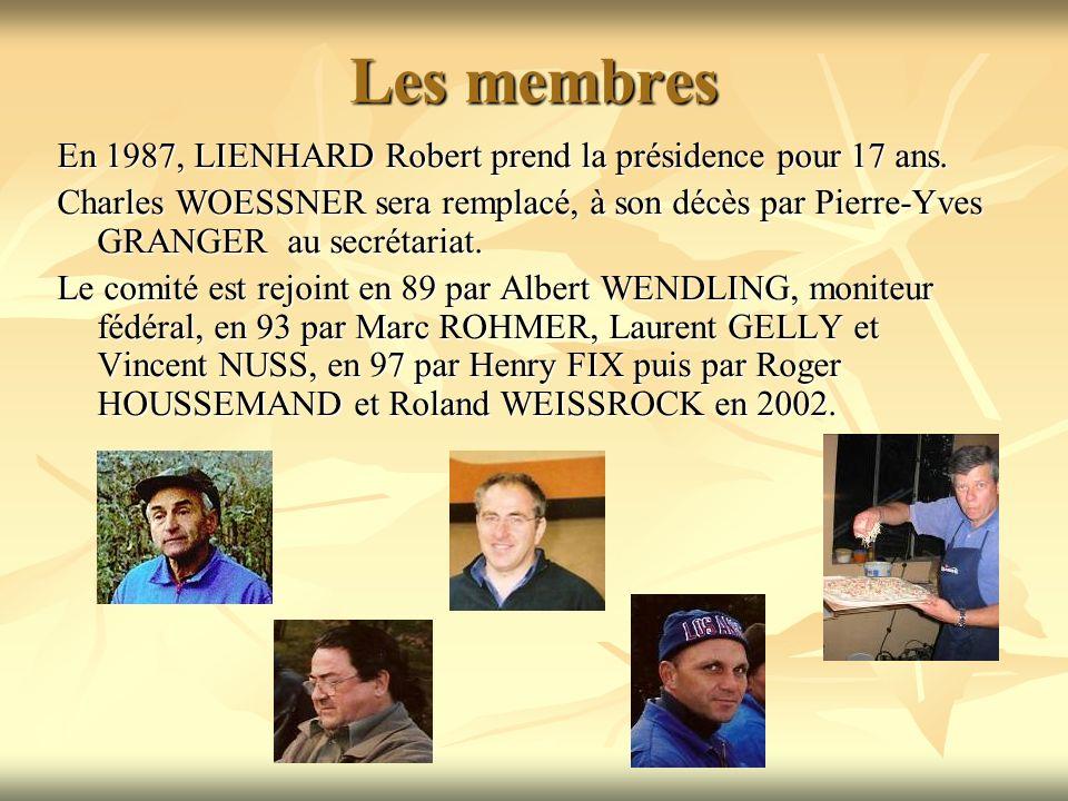 Les membres En 1987, LIENHARD Robert prend la présidence pour 17 ans.