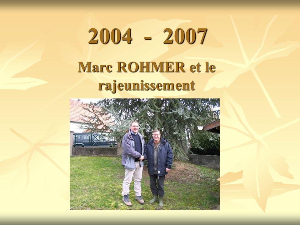 2004 - 2007 Marc ROHMER et le rajeunissement