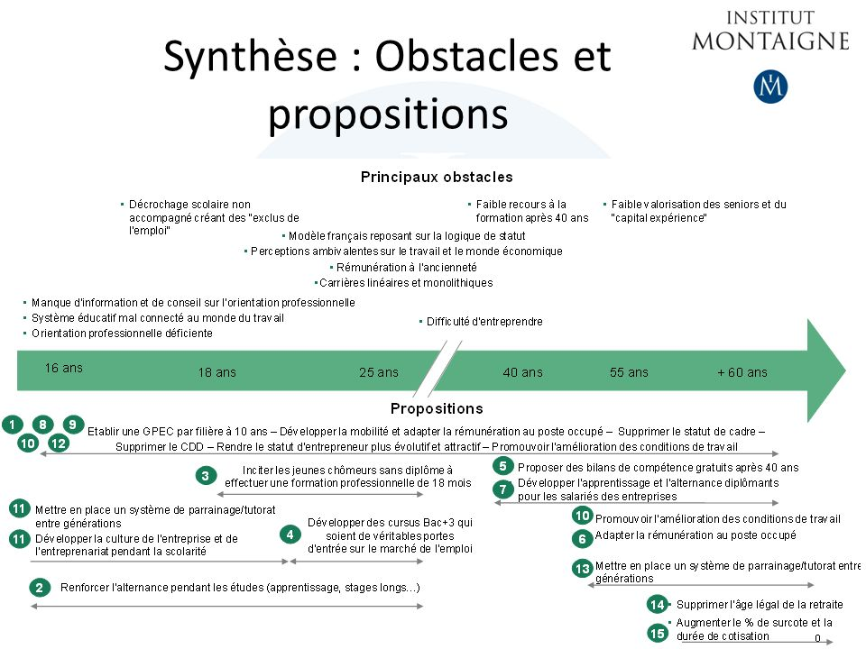 Synthèse : Obstacles et propositions