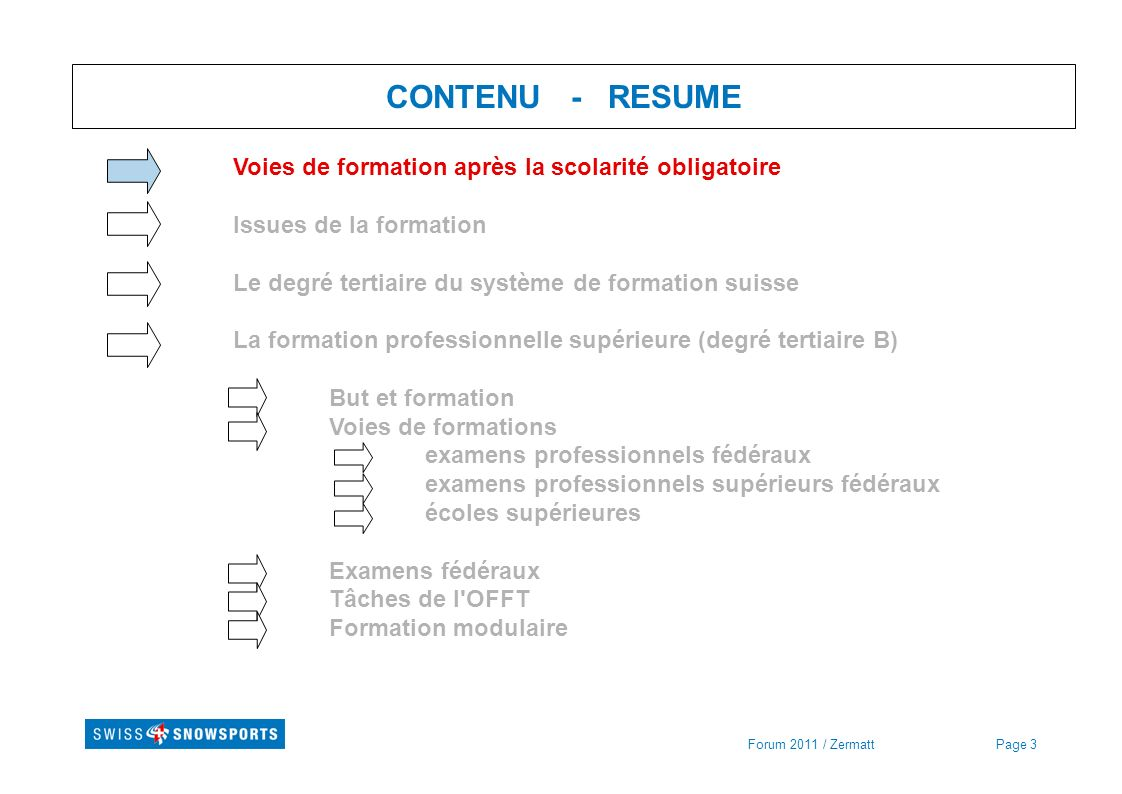 Page 34 Formation professionnelle supérieure - Examens prof.