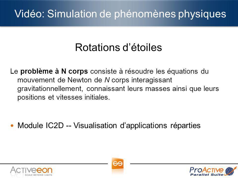 Vidéo: Simulation de phénomènes physiques Rotations détoiles Le problème à N corps consiste à résoudre les équations du mouvement de Newton de N corps