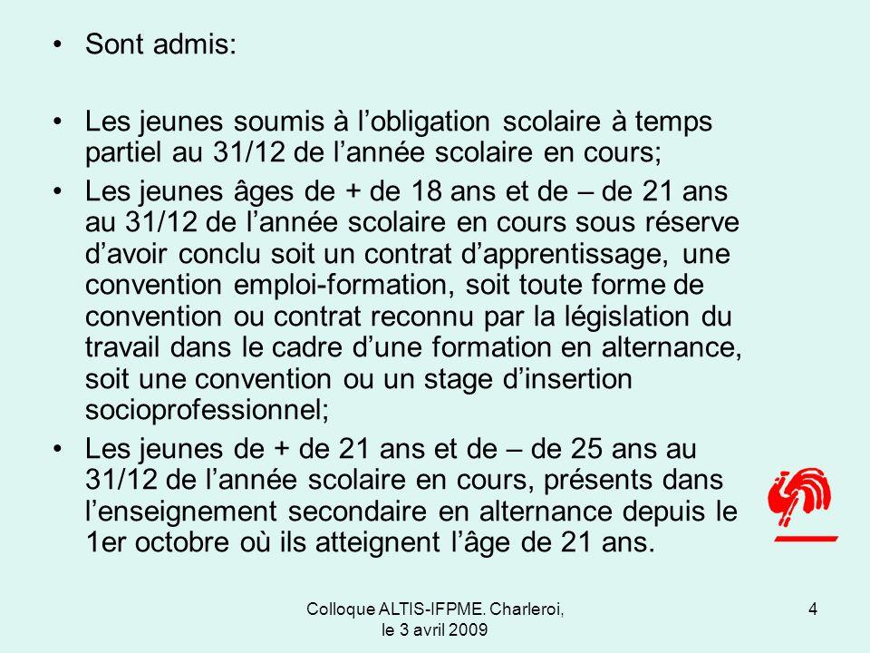 Colloque ALTIS-IFPME.