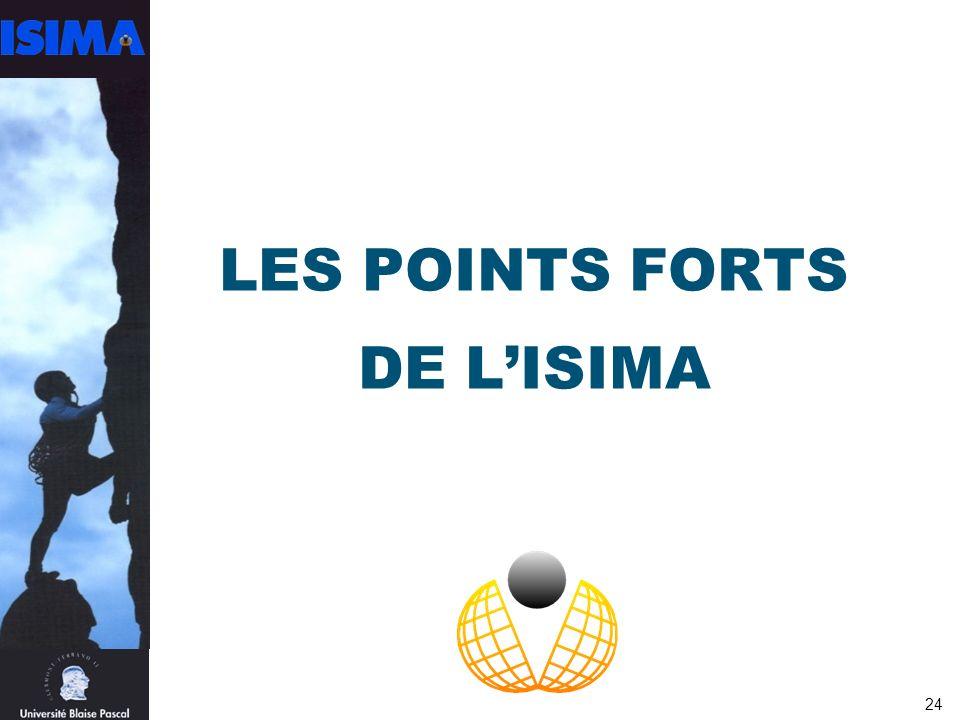 24 LES POINTS FORTS DE LISIMA