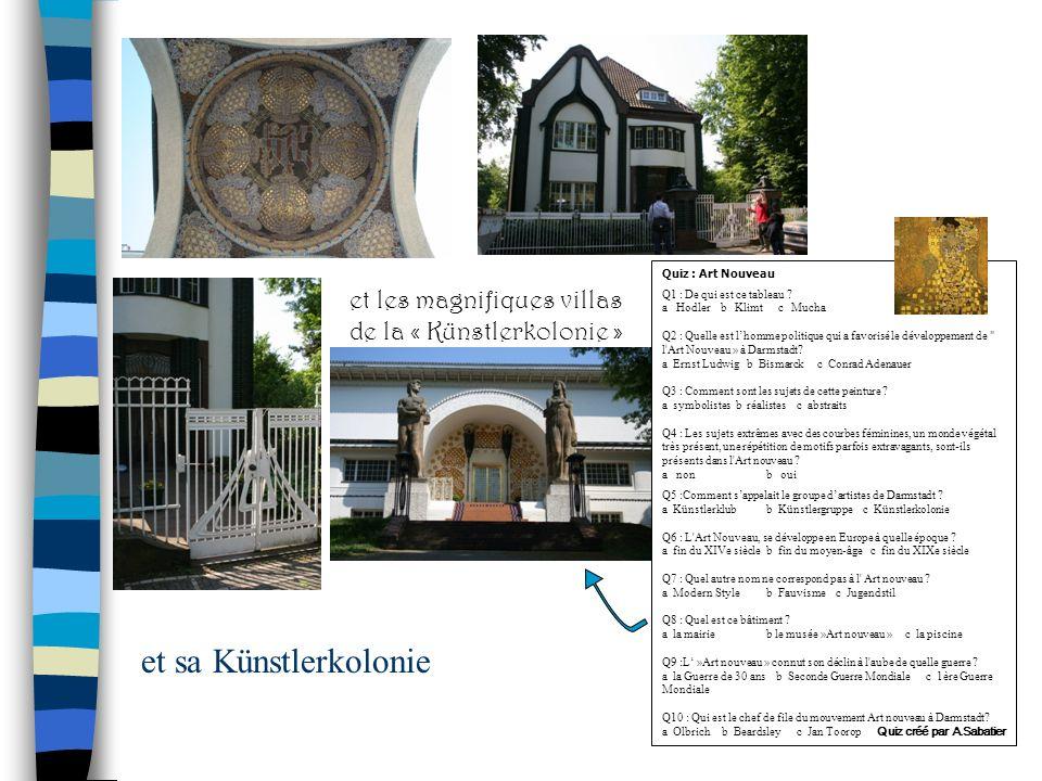 Quiz : Art Nouveau Q1 : De qui est ce tableau ? a Hodler b Klimt c Mucha Q2 : Quelle est lhomme politique qui a favorisé le développement de