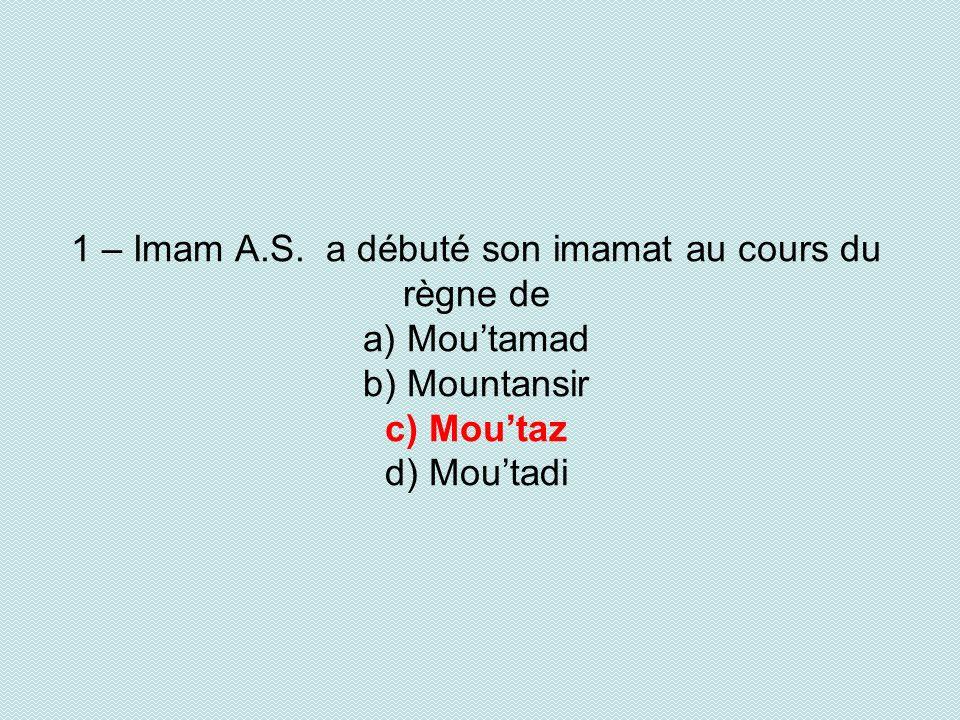 1 – Imam A.S.