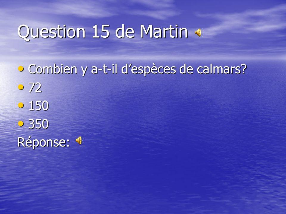 Question 14 de Bianca Jusquà combien lours de mer peut-il peser? Jusquà combien lours de mer peut-il peser? 400 kg 400 kg 300 kg 300 kg 1000 kg 1000 k