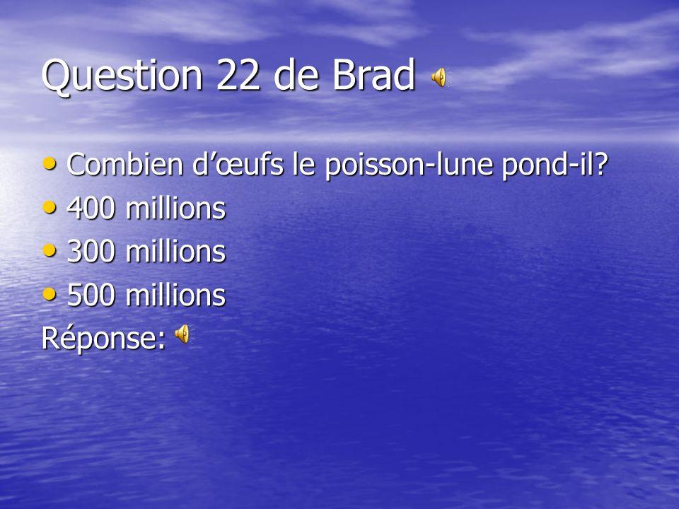 Question 21 de Jacob Dans quelle région vit le morse? Dans quelle région vit le morse? Arctique Arctique Pacifique Pacifique Atlantique AtlantiqueRépo
