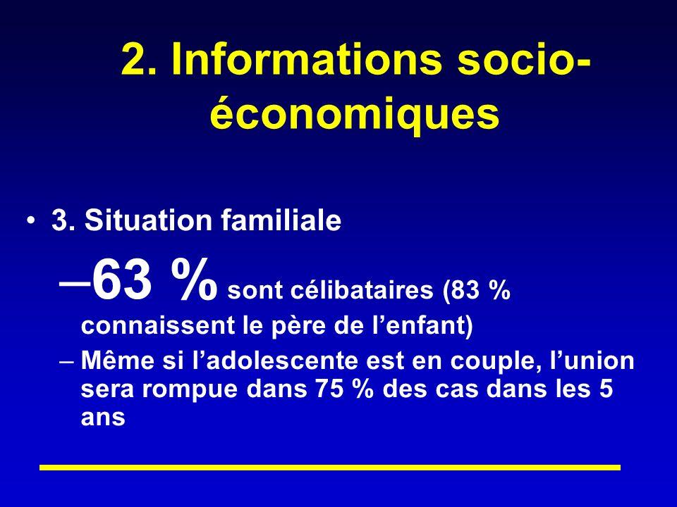 2.Informations socio- économiques 3.