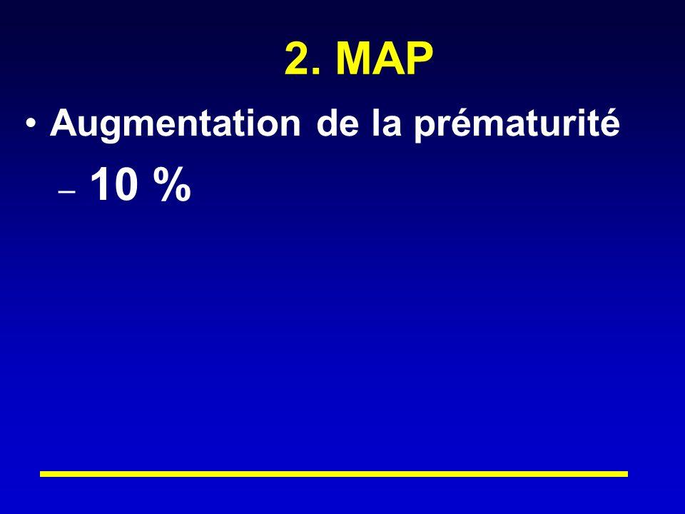 2. MAP Augmentation de la prématurité – 10 %