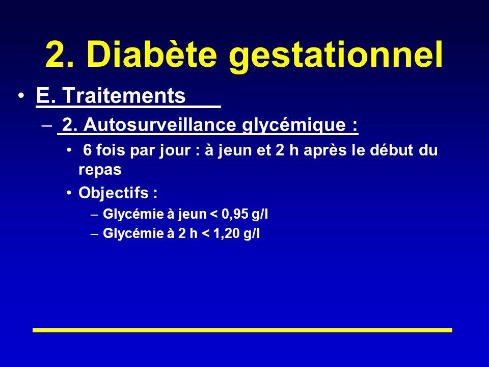 2.Diabète gestationnel E. Traitements – 2.