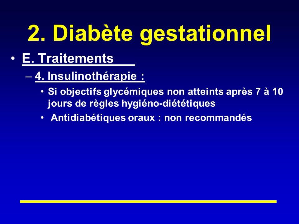 2.Diabète gestationnel E. Traitements –4.