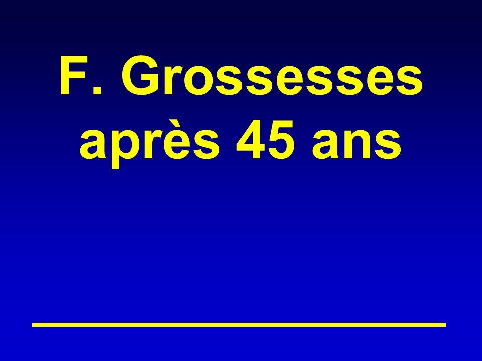 F. Grossesses après 45 ans