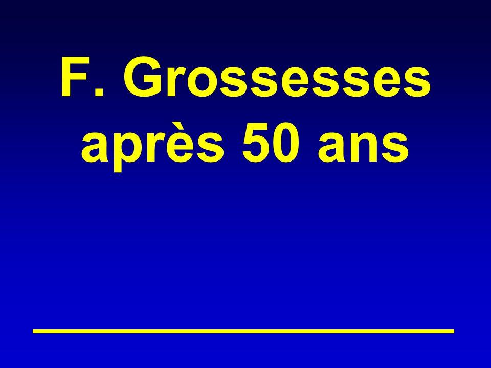 F. Grossesses après 50 ans