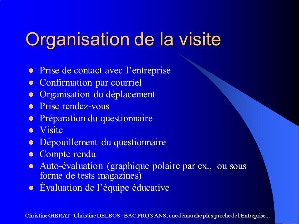 Christine GIBRAT - Christine DELBOS - BAC PRO 3 ANS, une démarche plus proche de l Entreprise...