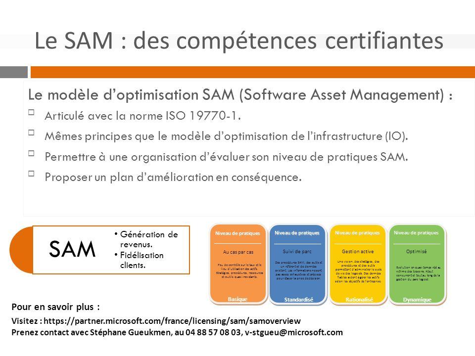 Le modèle doptimisation SAM (Software Asset Management) : Articulé avec la norme ISO 19770-1.