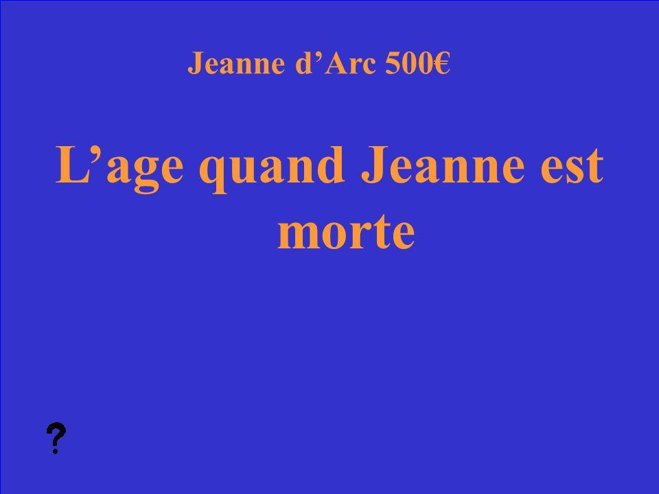31 Quel est le patriotisme Jeanne dArc Réponse 400