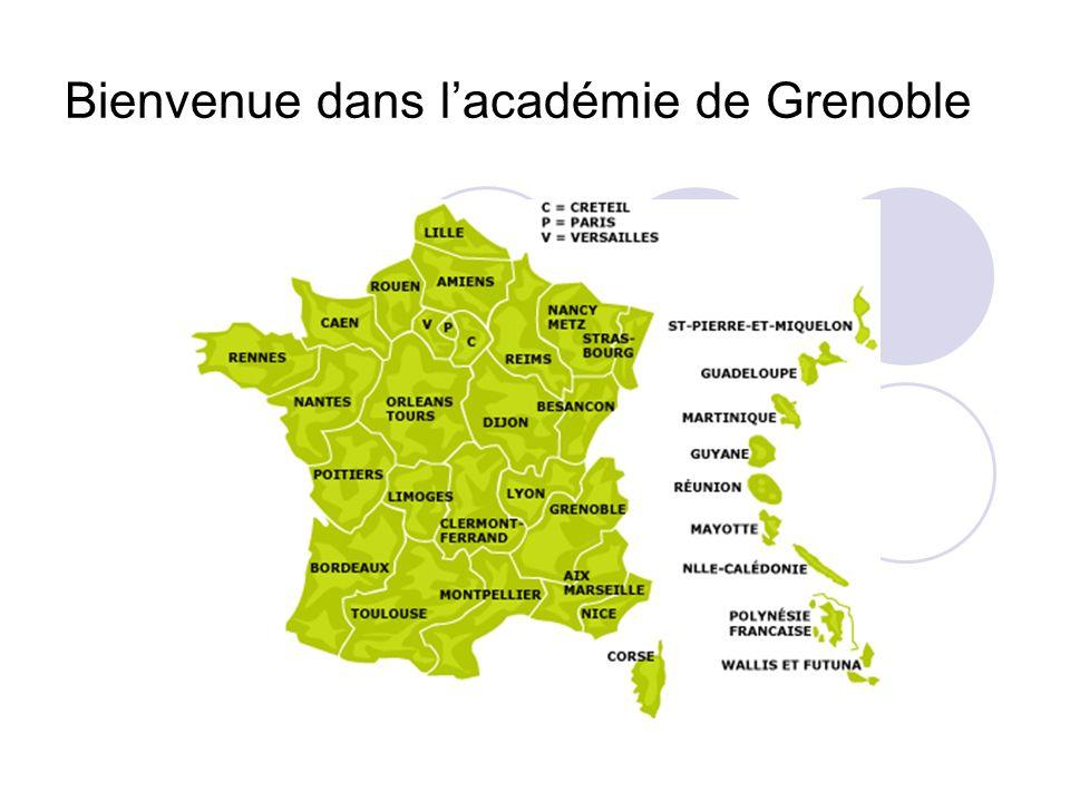 Bienvenue dans lacadémie de Grenoble
