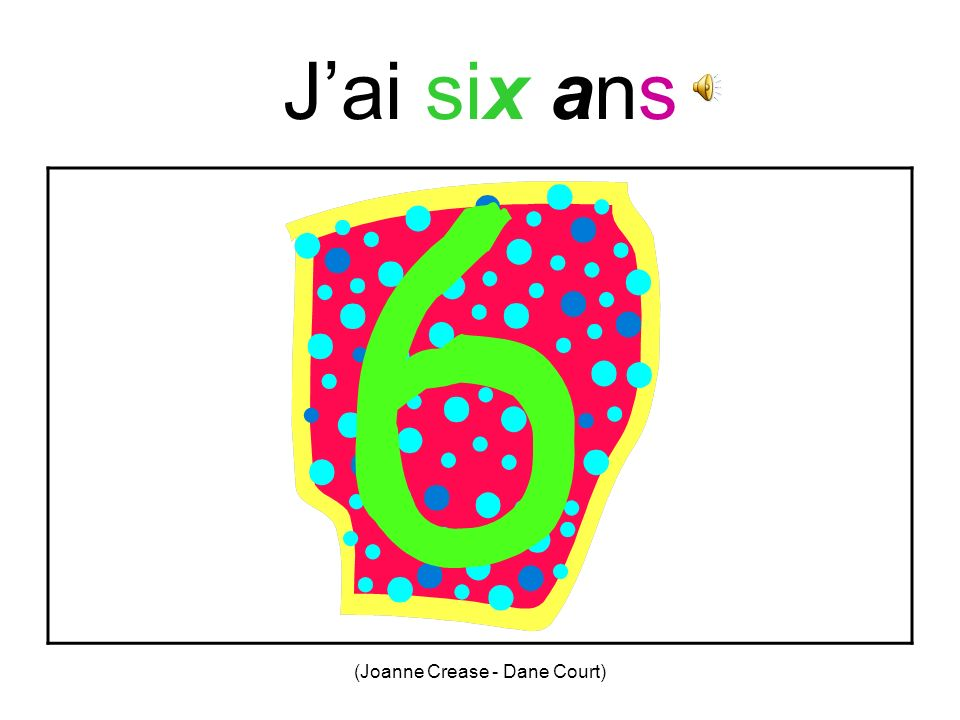 (Joanne Crease - Dane Court) Jai cinq ans
