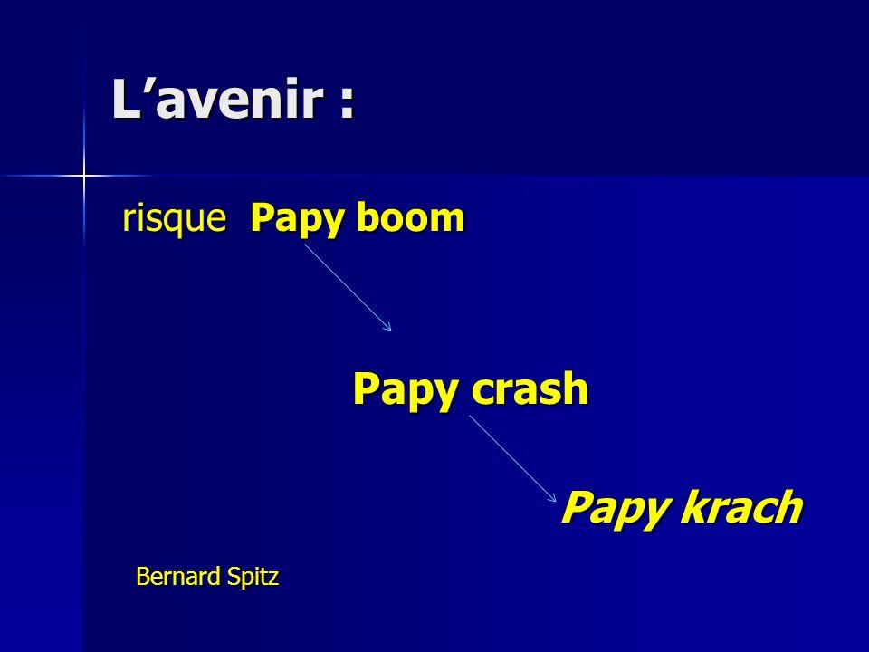Lavenir : risque Papy boom risque Papy boom Papy crash Papy crash Papy krach Papy krach Bernard Spitz Bernard Spitz