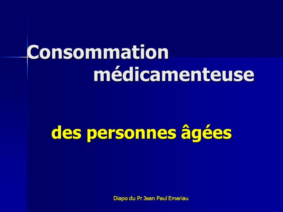 Consommation médicamenteuse des personnes âgées Diapo du Pr Jean Paul Emeriau