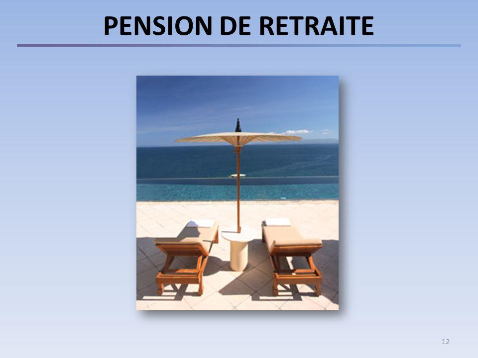 PENSION DE RETRAITE 12