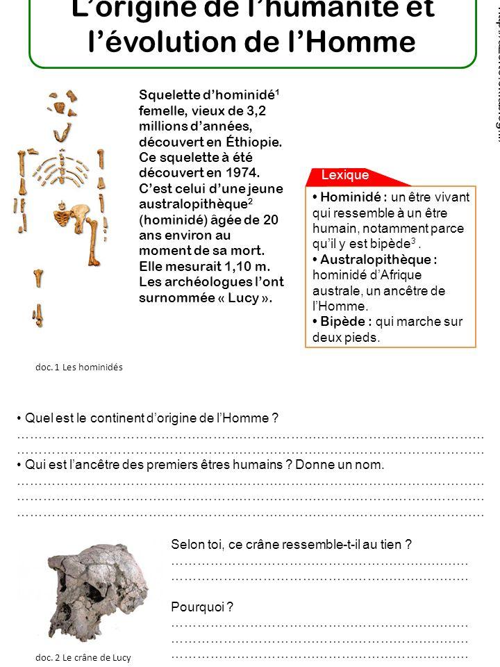 La Préhistoire est la plus longue et la plus ancienne période de lhistoire des hommes.