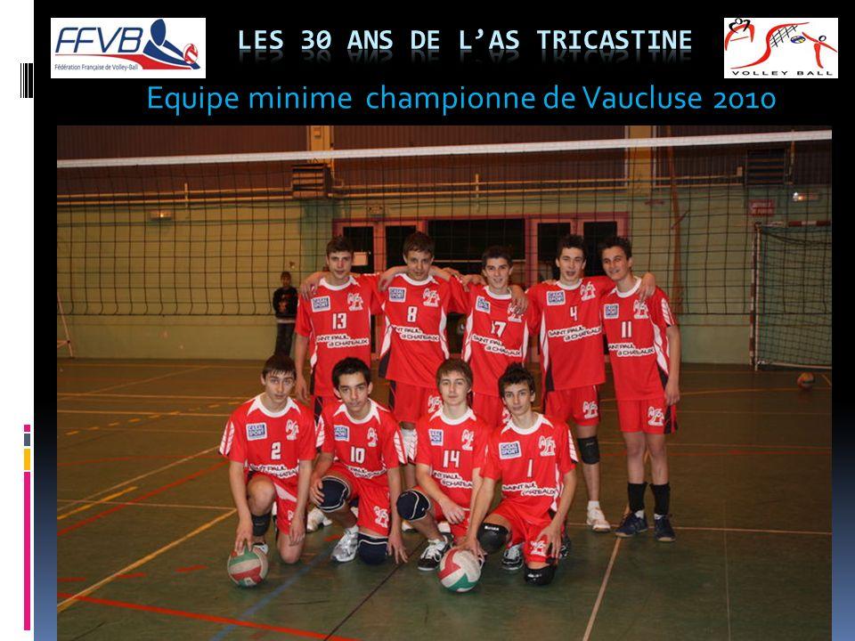Equipe minime championne de Vaucluse 2010