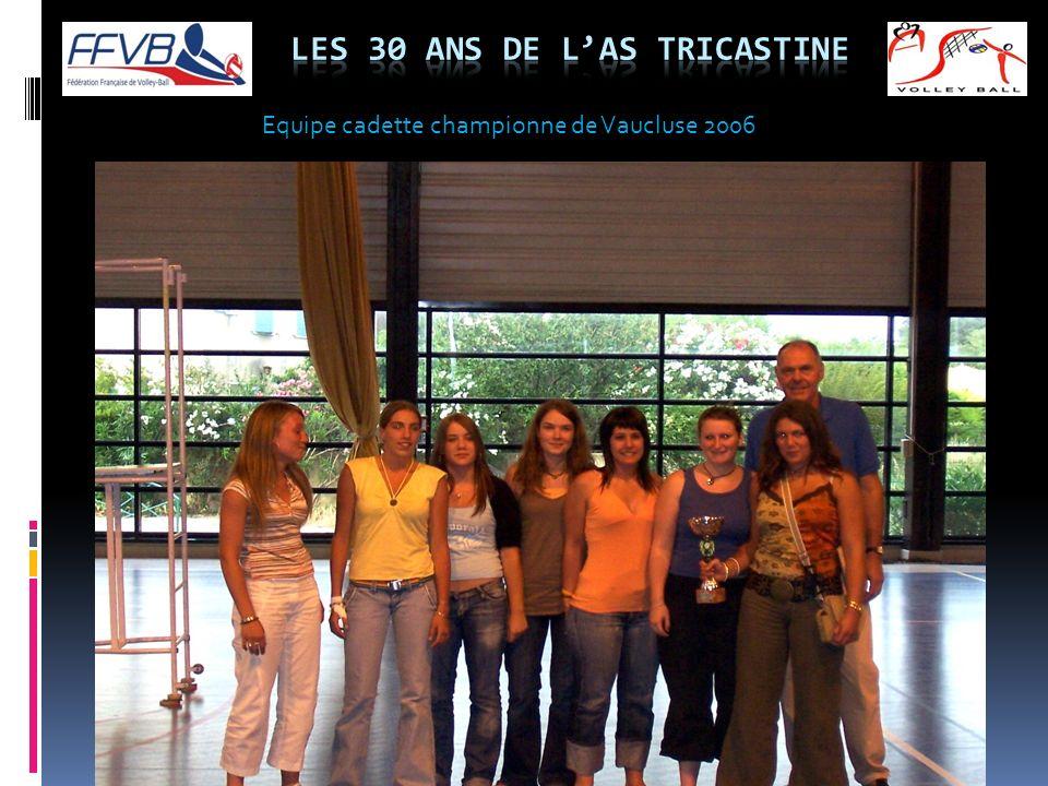 Equipe cadette championne de Vaucluse 2006