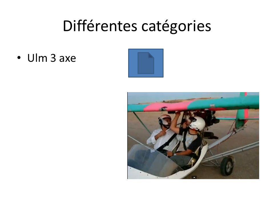Différentes catégories Ulm 3 axe