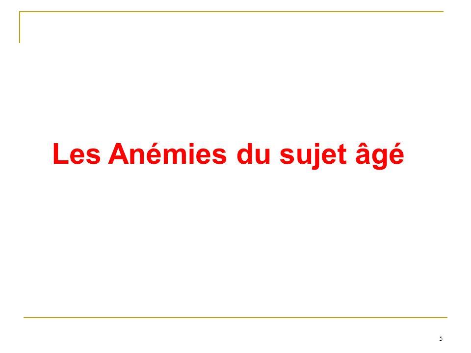 5 Les Anémies du sujet âgé