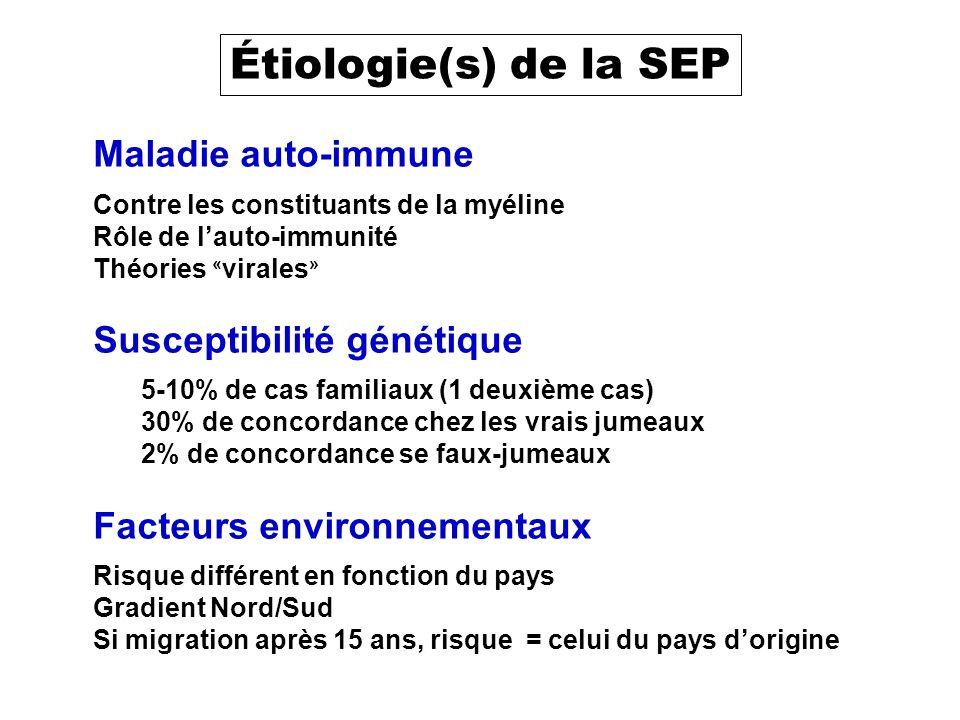 SEP et vaccination SEP = maladie dysimmune Vaccination réaction immunitaire provoquée Contre-indication ?