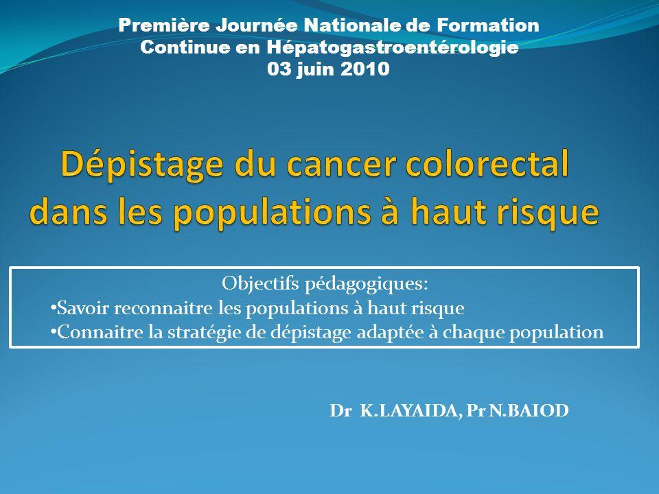 Dr K.LAYAIDA, Pr N.BAIOD Première Journée Nationale de Formation Continue en Hépatogastroentérologie 03 juin 2010 Objectifs pédagogiques: Savoir recon