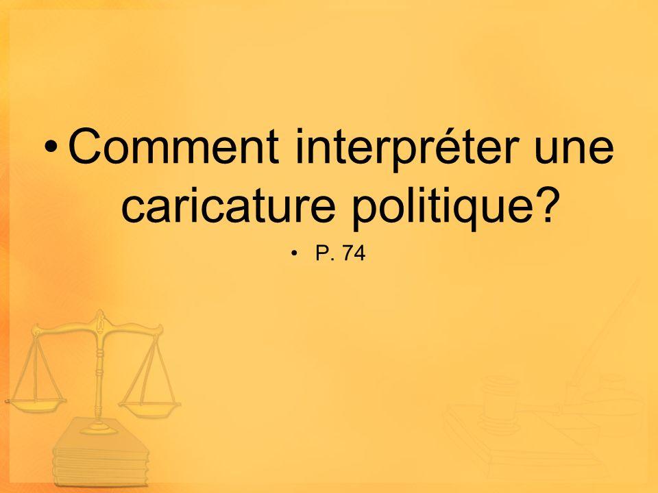 Comment interpréter une caricature politique? P. 74