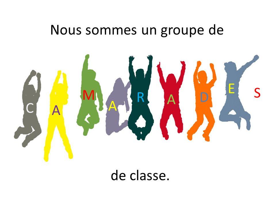 C A M S A R A D E Nous sommes un groupe de de classe.