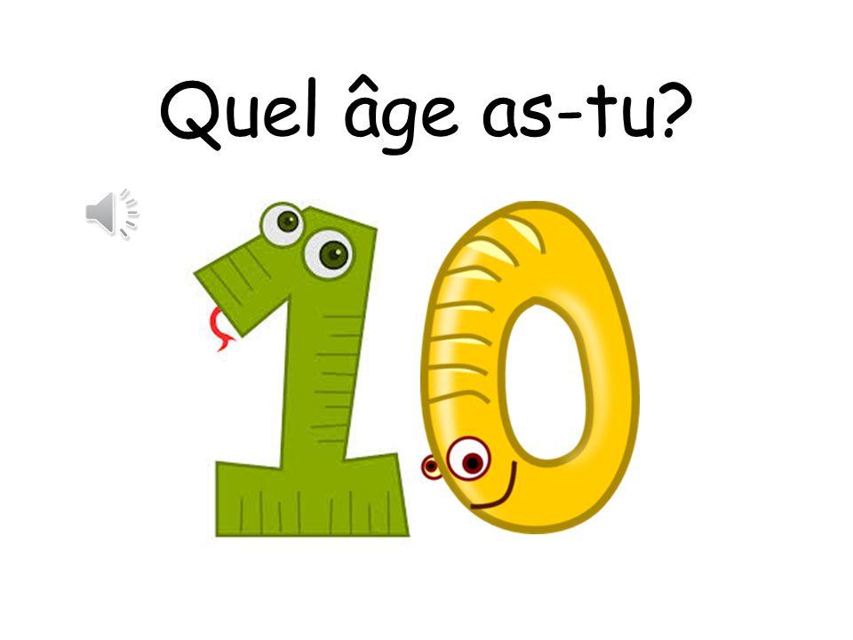 Oui! Jai six ans!