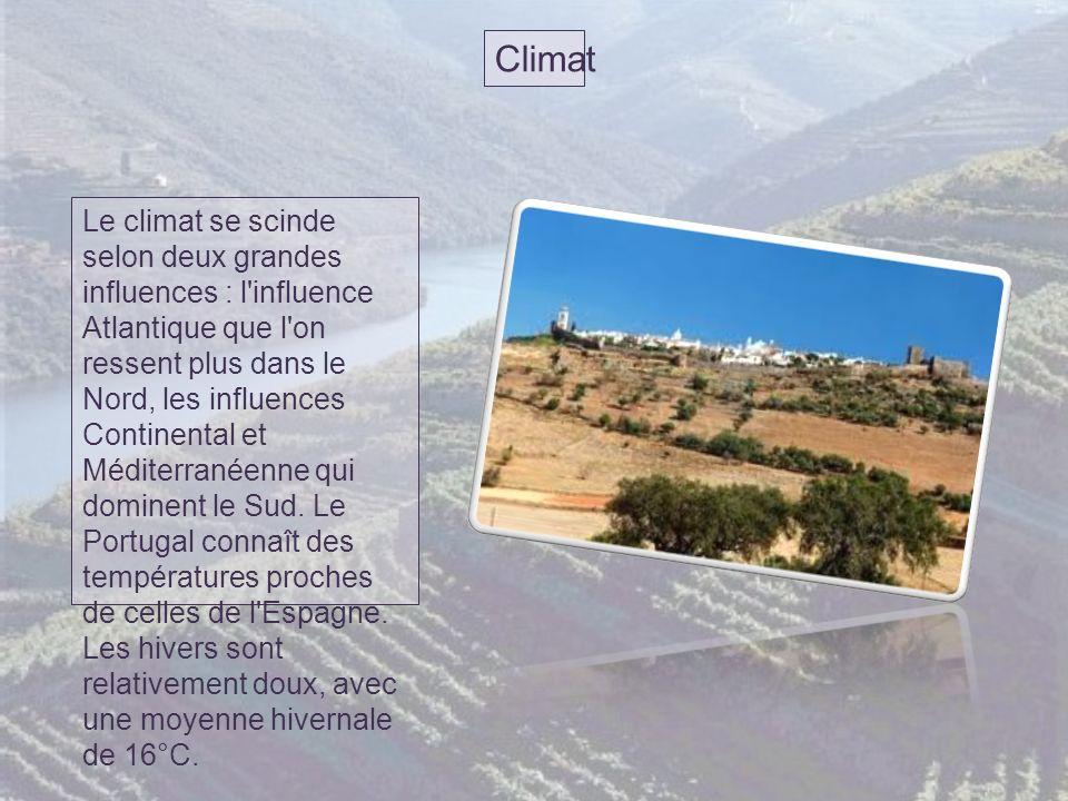 Climat Le climat se scinde selon deux grandes influences : l influence Atlantique que l on ressent plus dans le Nord, les influences Continental et Méditerranéenne qui dominent le Sud.
