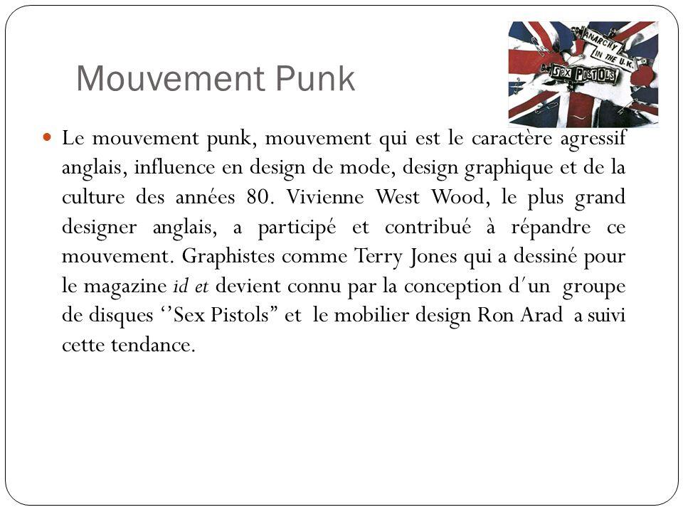 Mouvement Punk Le mouvement punk, mouvement qui est le caractère agressif anglais, influence en design de mode, design graphique et de la culture des