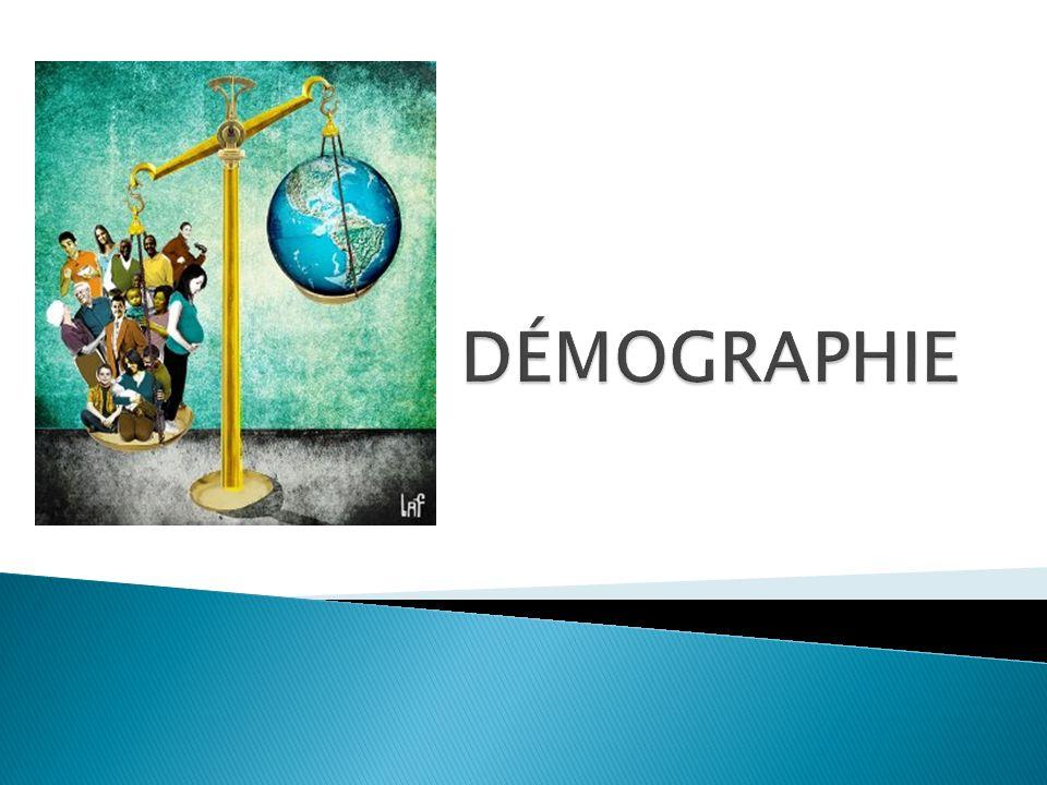 DÉFINITION: Létude des populations humaines (souvent en statistiques) Utile pour planifier les besoins de la population… en logement, en nourriture, en services (éducation, santé)….