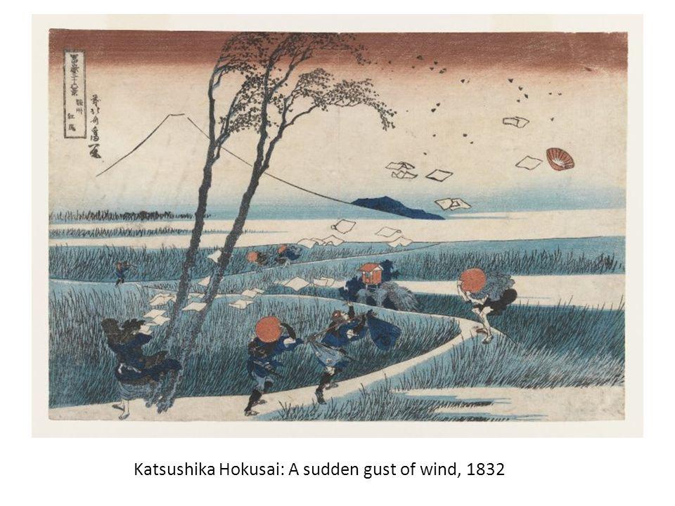 Katsushika Hokusai: A sudden gust of wind, 1832