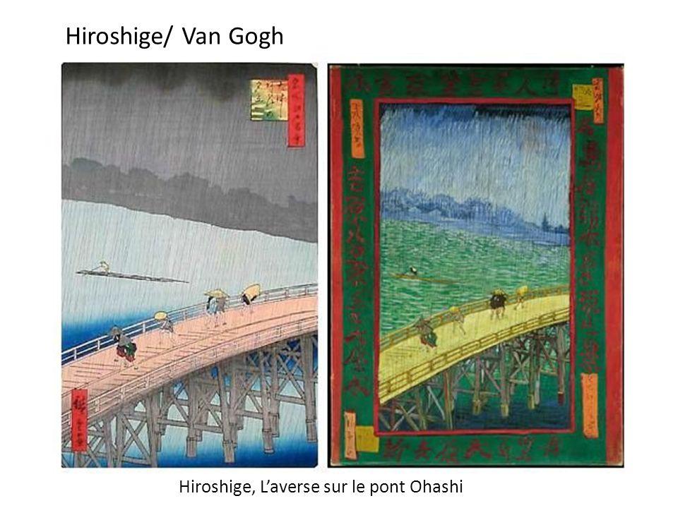Hiroshige, Laverse sur le pont Ohashi Hiroshige/ Van Gogh