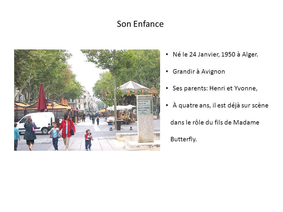 Son Enfance Né le 24 Janvier, 1950 à Alger.