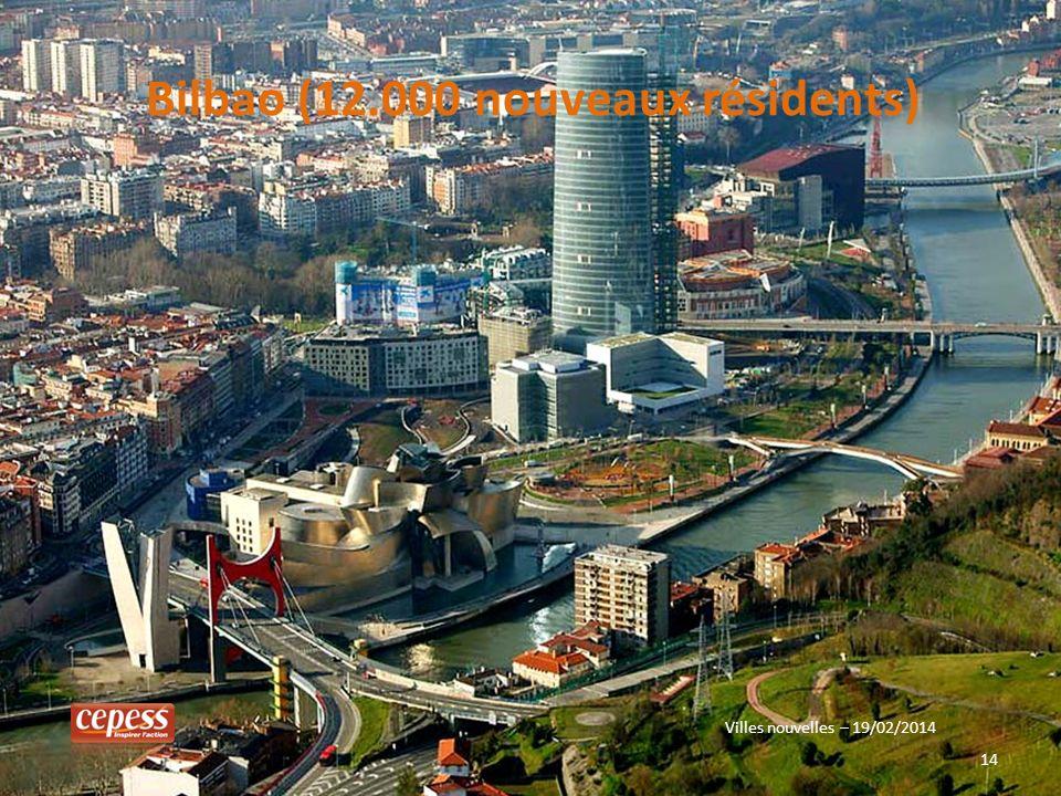 14 Bilbao (12.000 nouveaux résidents) Villes nouvelles – 19/02/2014