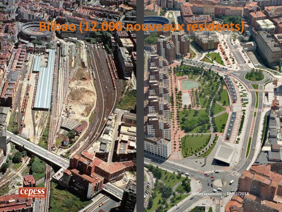 15 Villes nouvelles – 19/02/2014 Bilbao (12.000 nouveaux résidents)