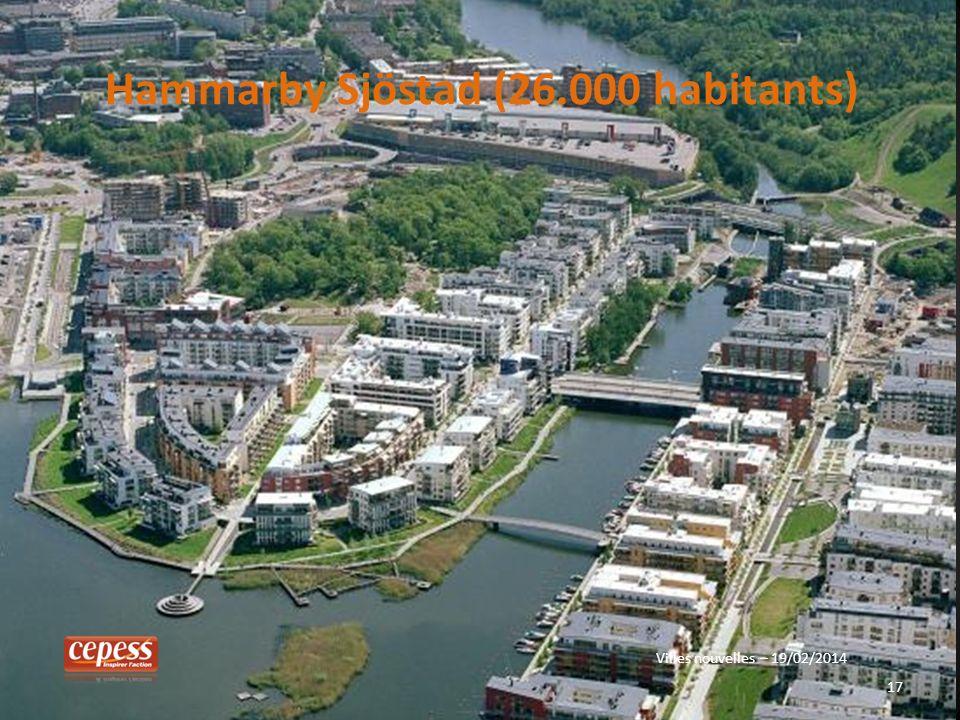 17 Hammarby Sjöstad (26.000 habitants) Villes nouvelles – 19/02/2014