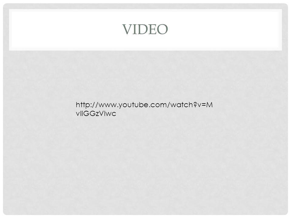VIDEO http://www.youtube.com/watch?v=M vIiGGzVIwc